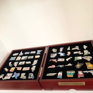 Collectible 50 states pins complete set in case